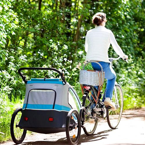 baby op fiets