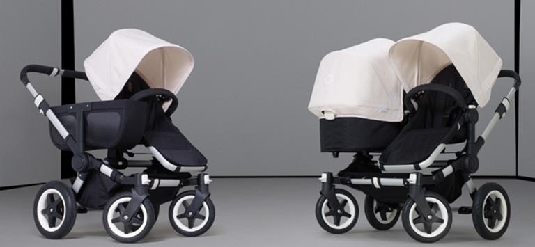duo kinderwagen voor baby en peuter of tweeling