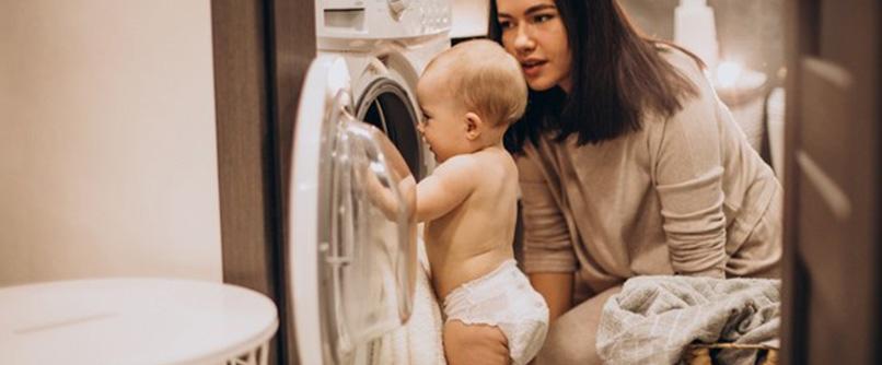 herbruikbare luier wassen