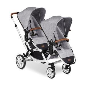 luxe duurzame duo kinderwagen voor tweeling