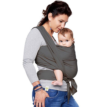 makkelijke draagdoek pasgeboren baby