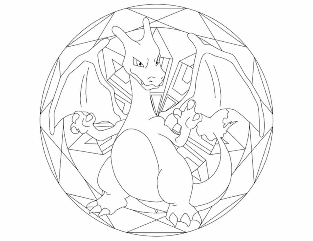 Charizard pokemon kleurplaat