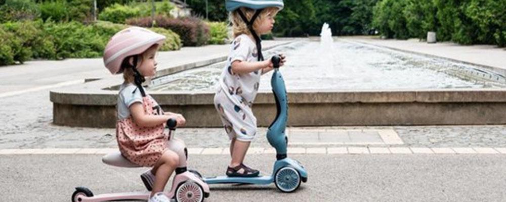 Step voor kinderen leren lopen evenwicht