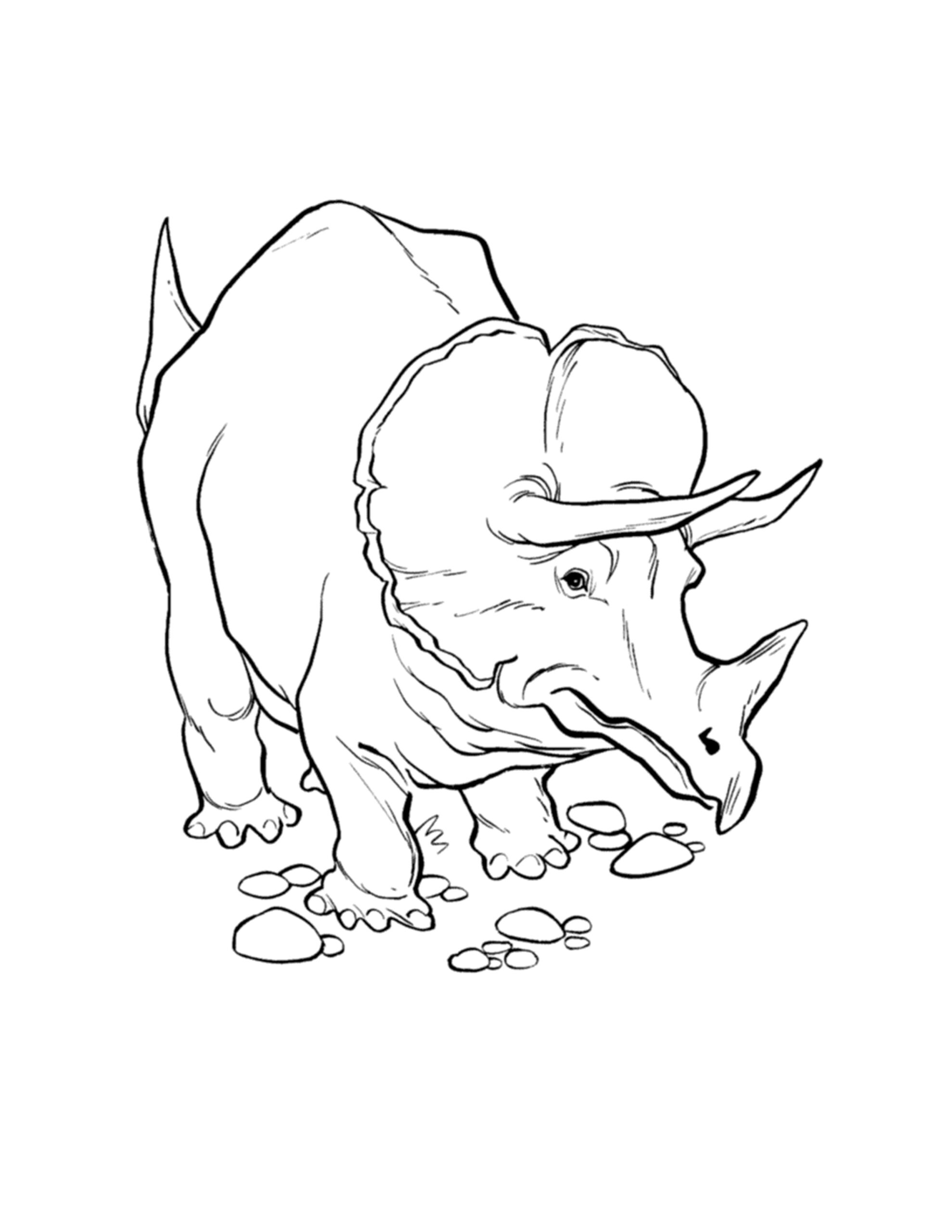 dinosaurus inkleuren tekening