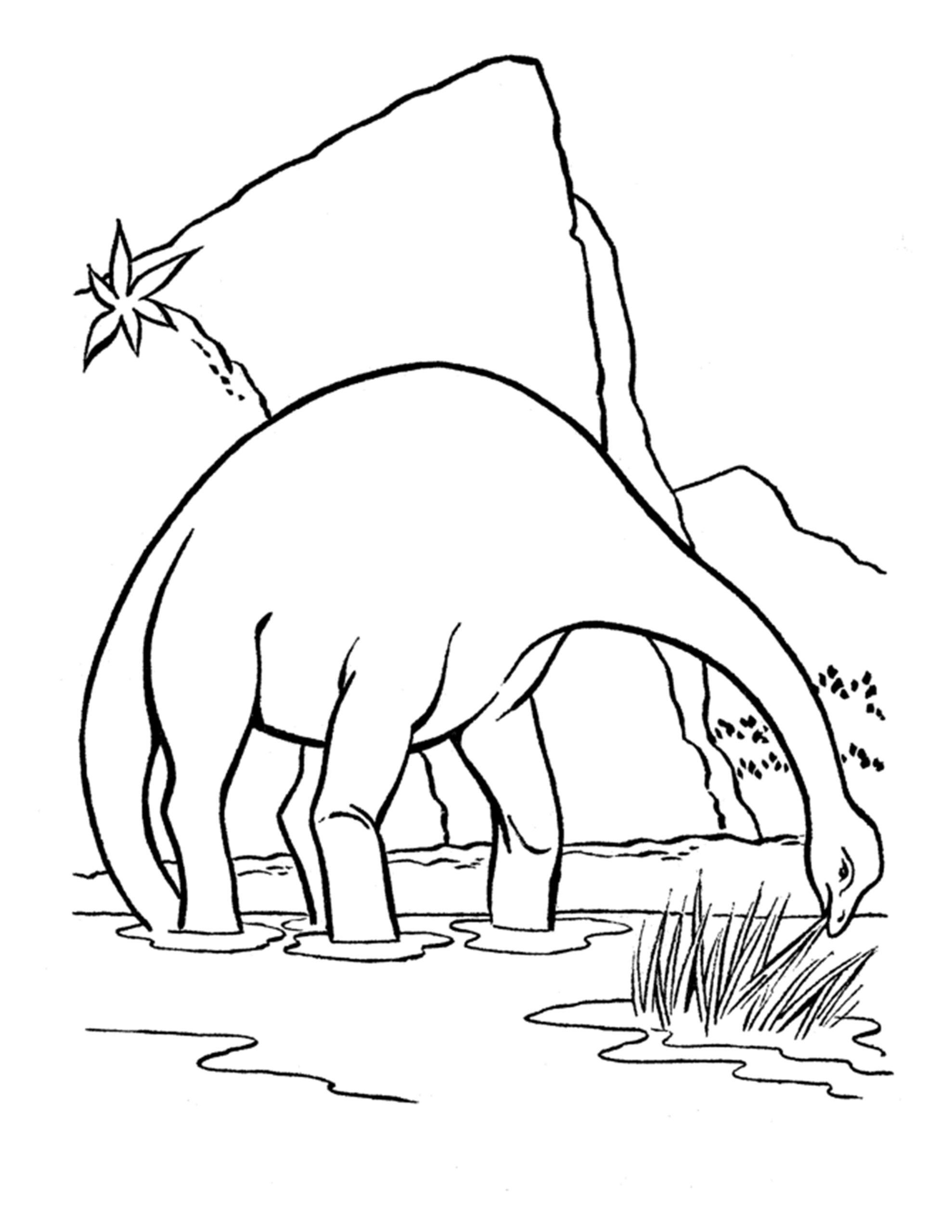 gratis dinosaurus kleurplaten