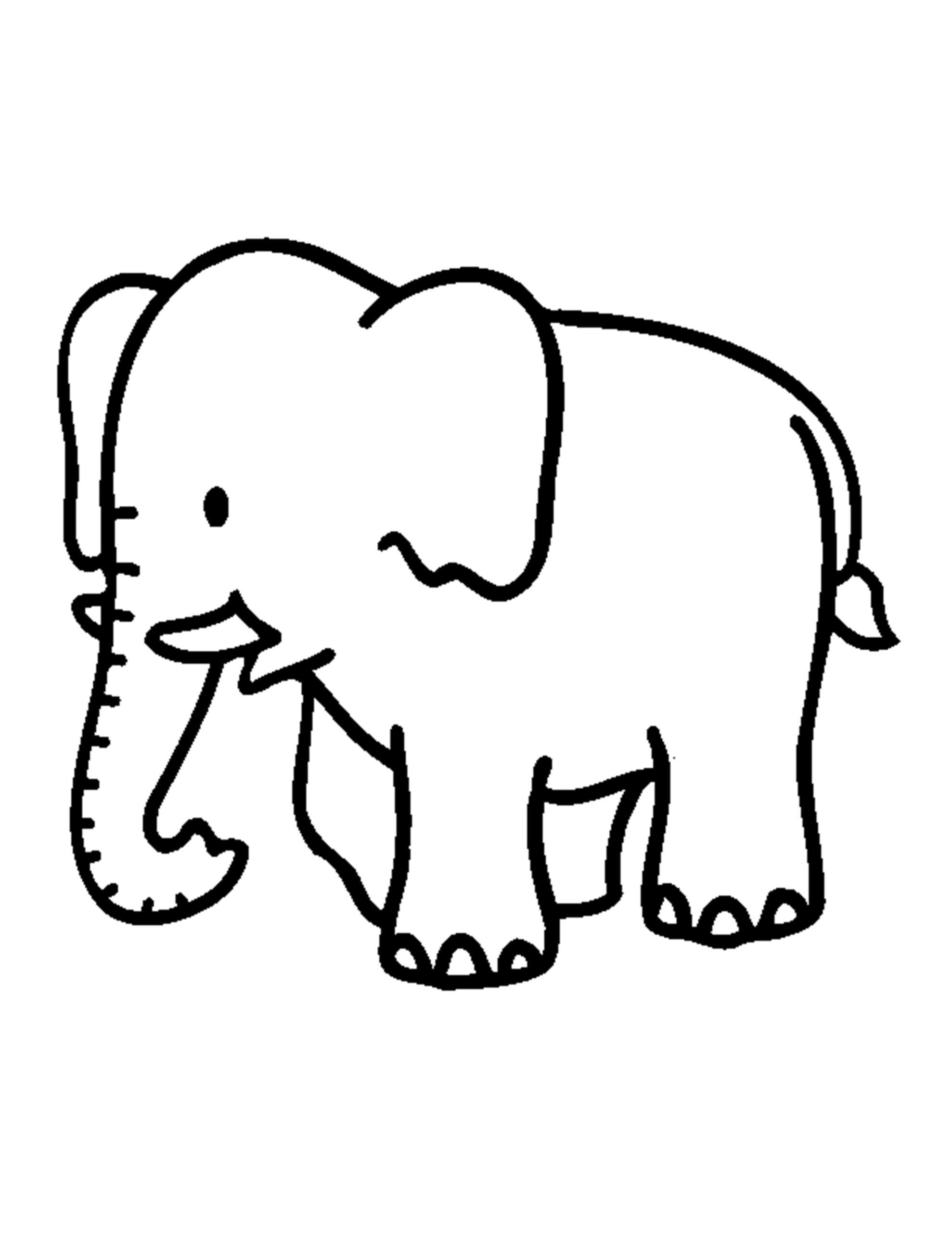 gratis olifant kleurplaat
