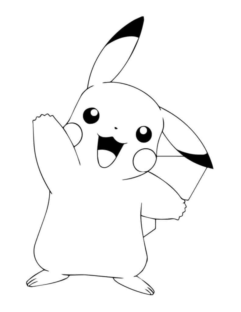 gratis pikachu kleurplaat downloaden