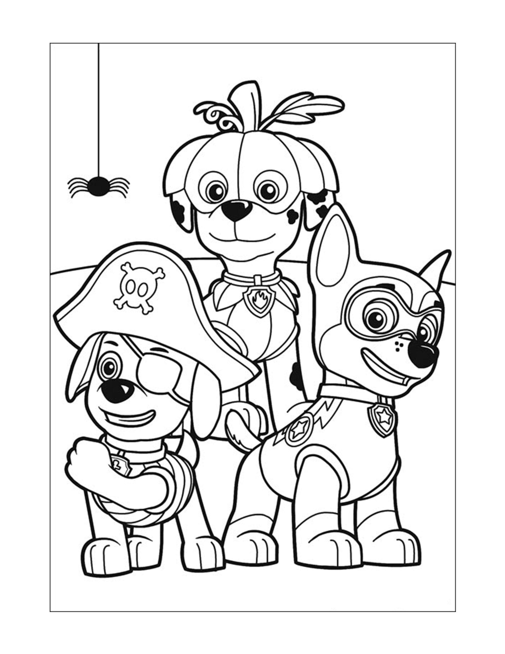 honden paw patrol inkleuren kinderen