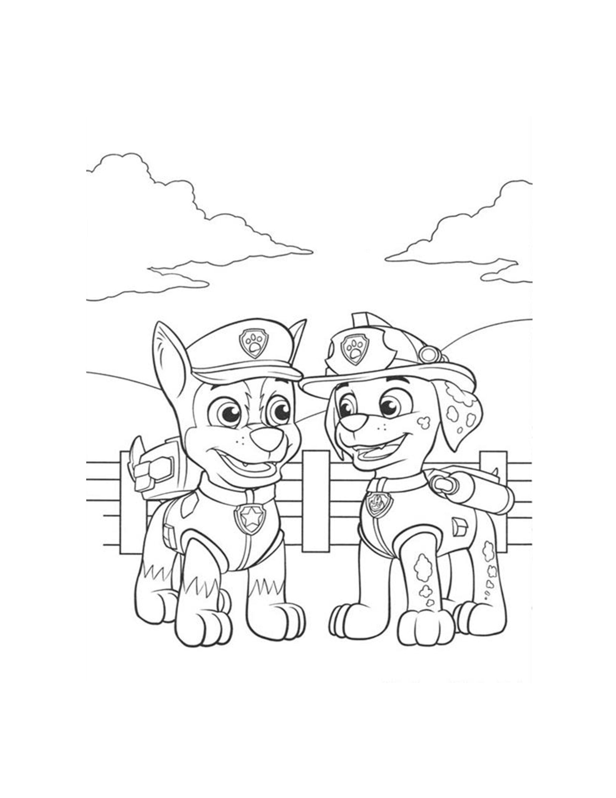 kleurplaat tekenen paw patrol