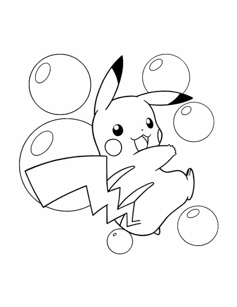 kleurplaat van pikachu gratis downloaden