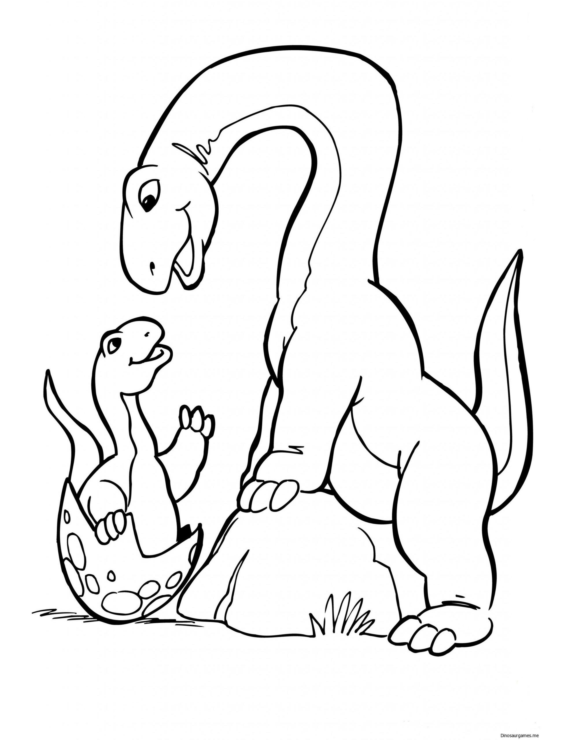 kleurplaten voor kinderen dinosaurus
