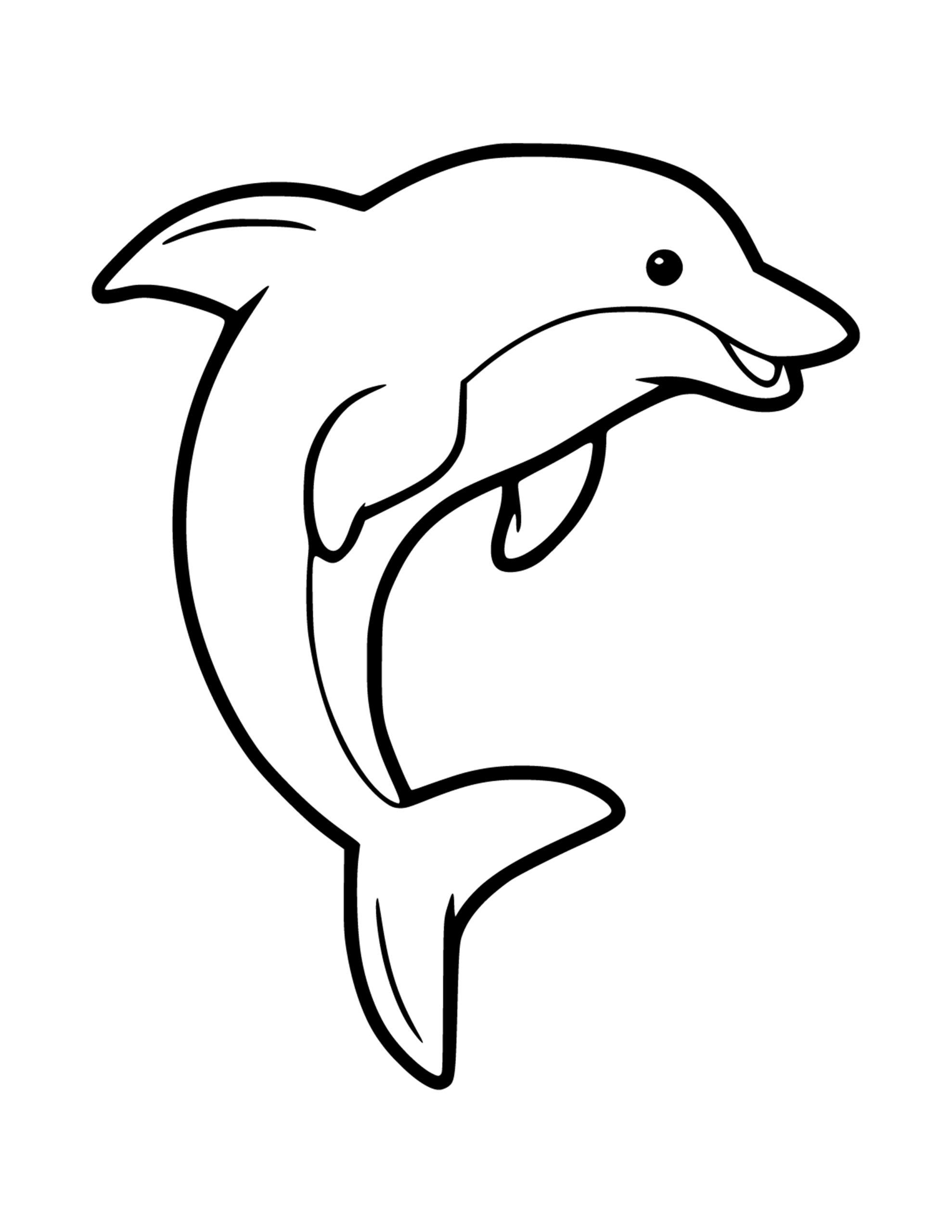 makkelijke dolfijn kleurplaat