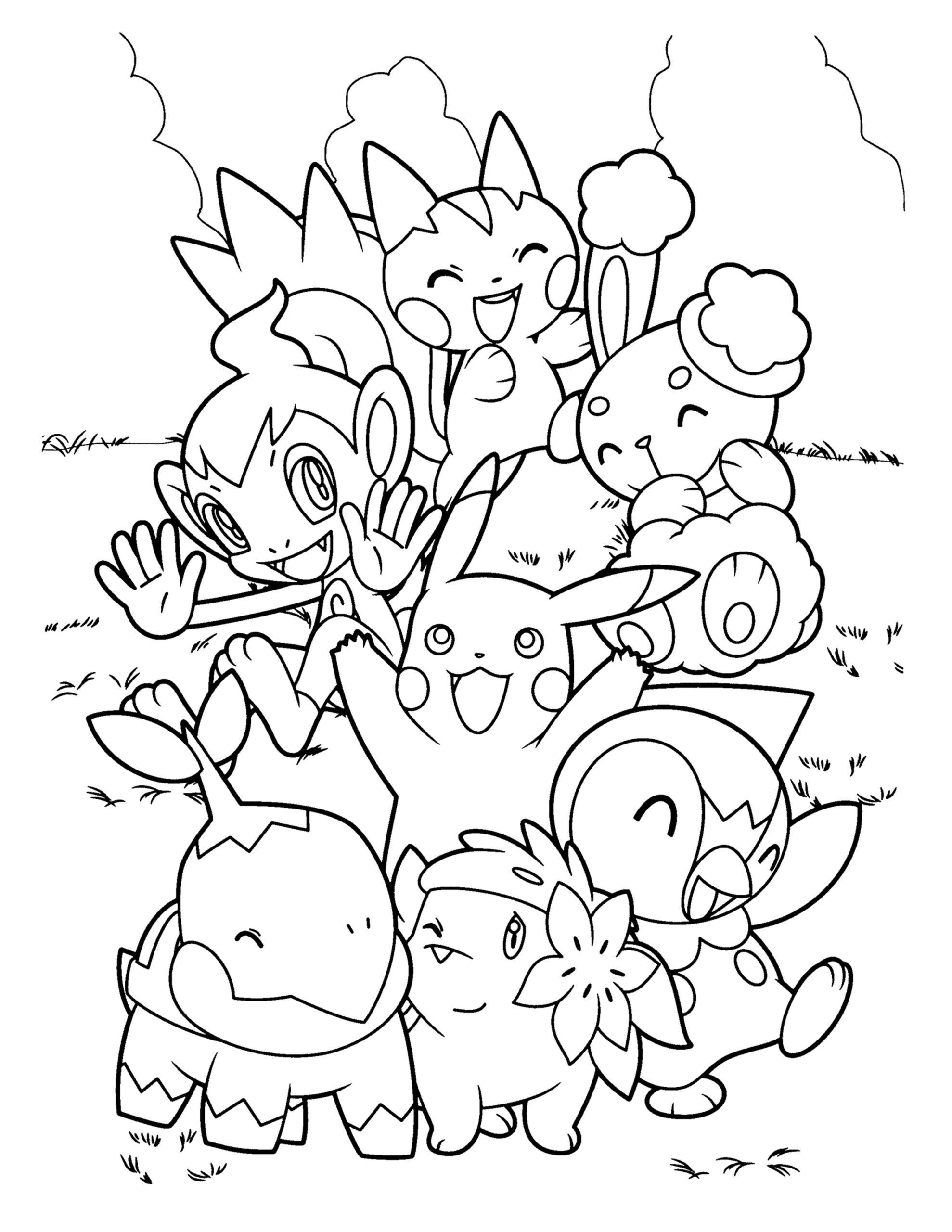 nieuwe pokemon tekening inkleuren plaat