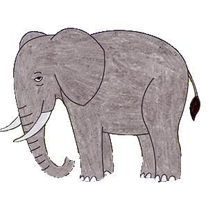 olifanten kleurplaten gratis