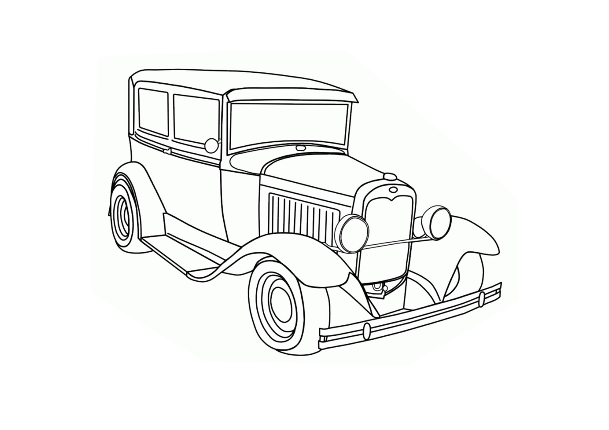 oude auto old timer inkleuren