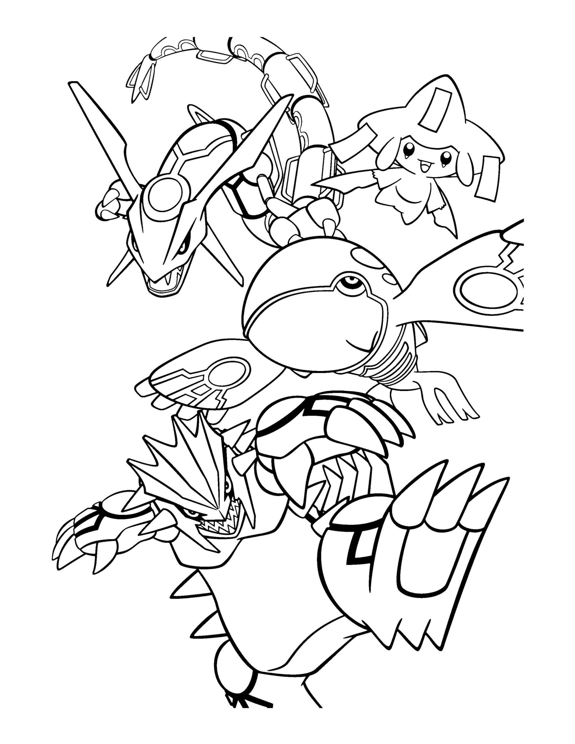 pokemon tekening inkleuren kinderen