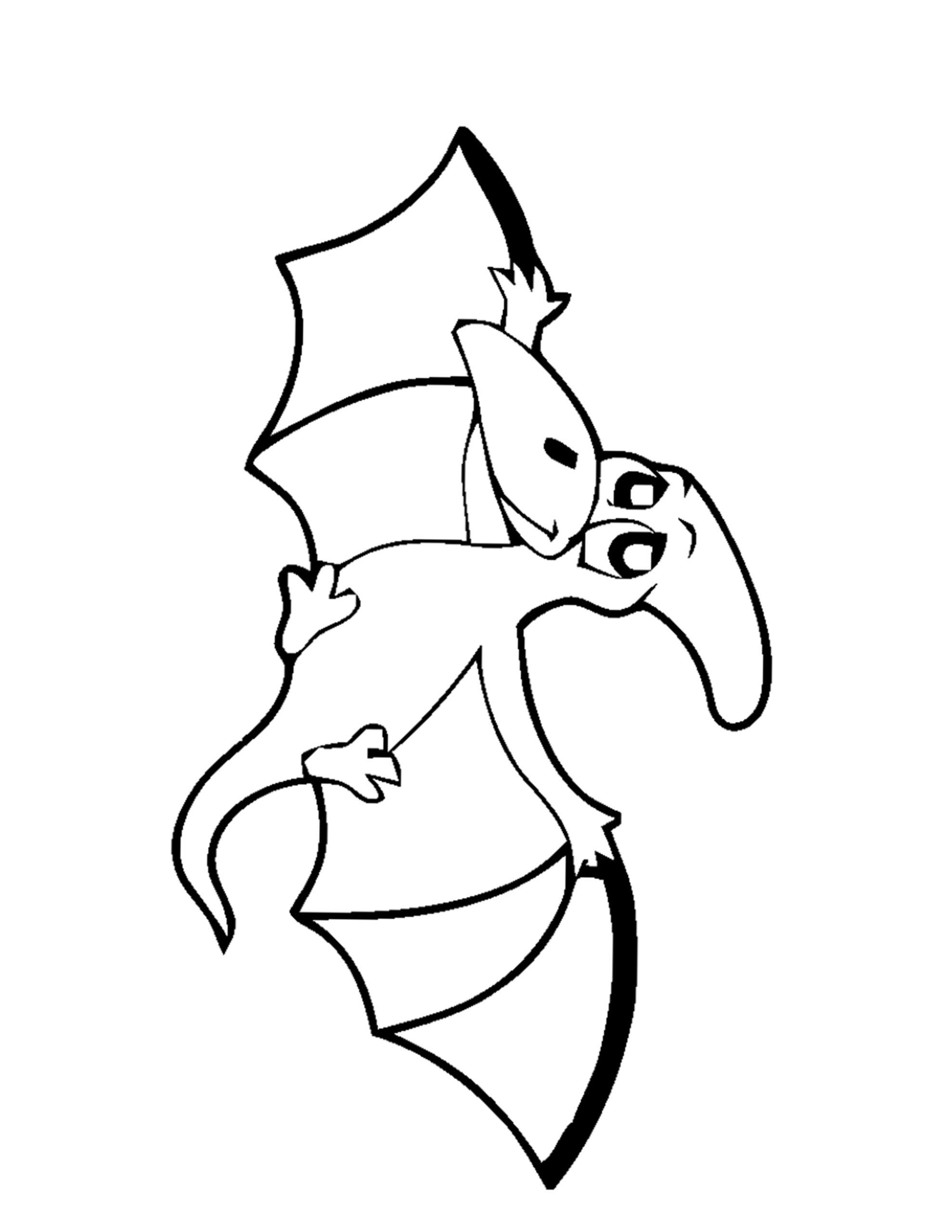 vliegende dino kleurplaat
