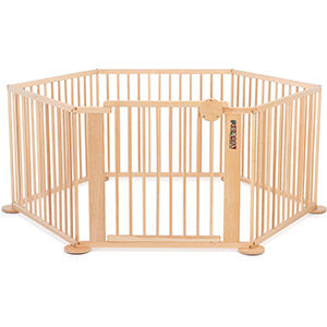 grote houten grondbox voor baby's